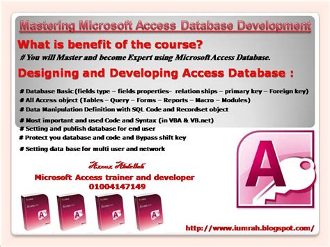 Become Master and Expert in Microsoft Access development
